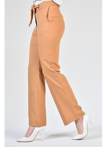 Rodi Jeans Kadın Çımalı Bol Paça Kumaş Pantolon DS21YB014082 Camel
